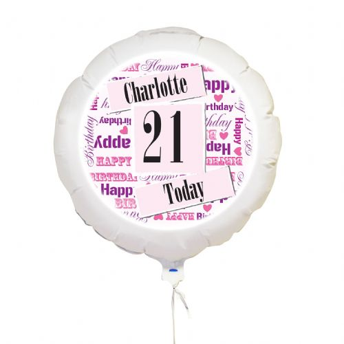 Personalised Pink Birthday Age Balloon